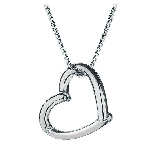 Hot Diamonds Sterling Silver Heart Diamond Necklace DP214